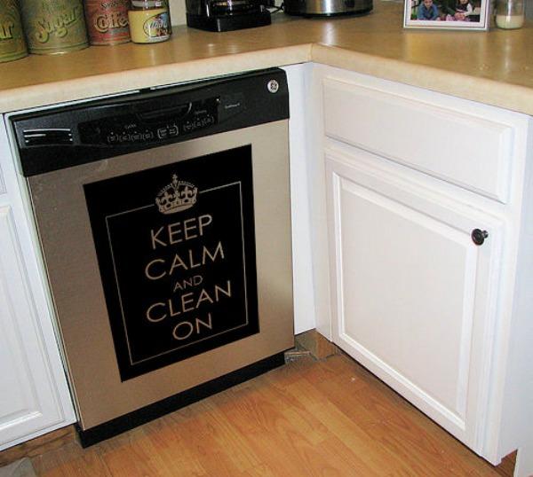DIY wohnideen spülmaschine erneuern coole bastelideen aufkleber sticker