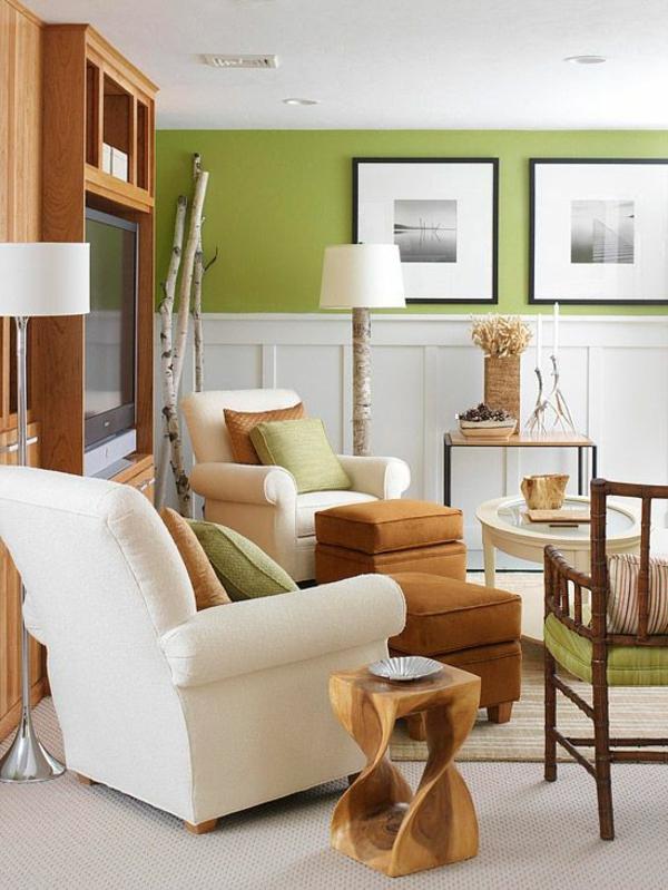 Die gemälde Farbe Grün Farbbedeutung Grün akzent