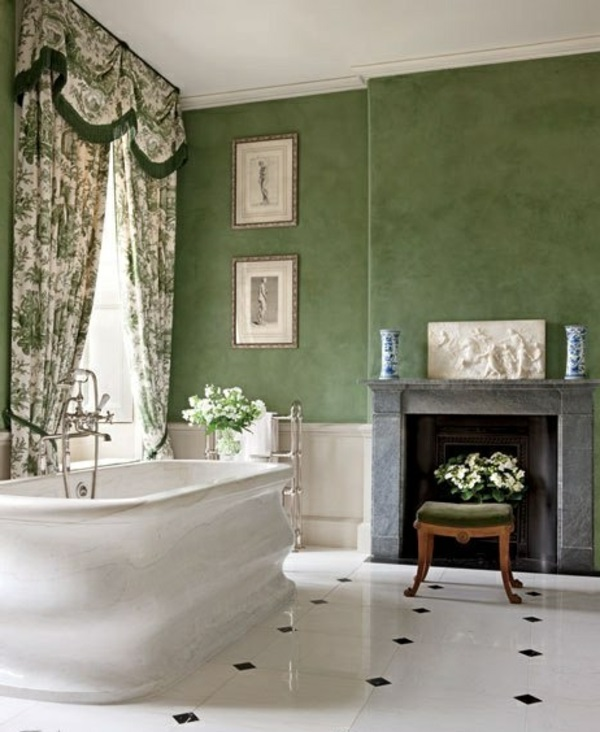Die Farbe Grün Farbbedeutung Grün badezimmer badewanne