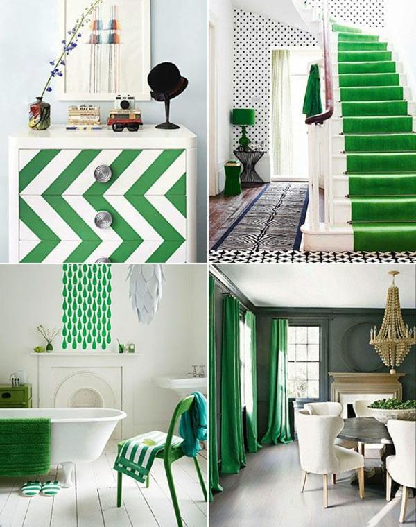 Die Farbe Grün Farbbedeutung Grün chevron