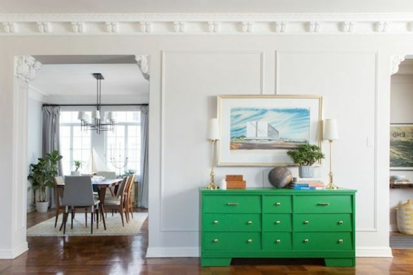 Die Farbe klassisch innendesign Grün Farbbedeutung Grün sideboard