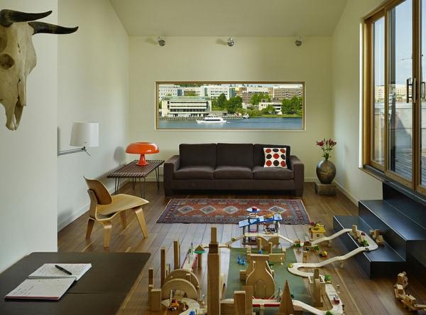 Eames stuhl sessel leuchten lampen familienzimmer