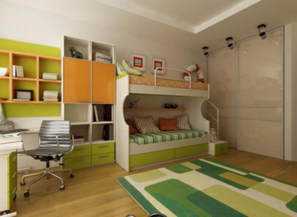 Einrichtungsideen fürs Jugendzimmer hochbett kompakt