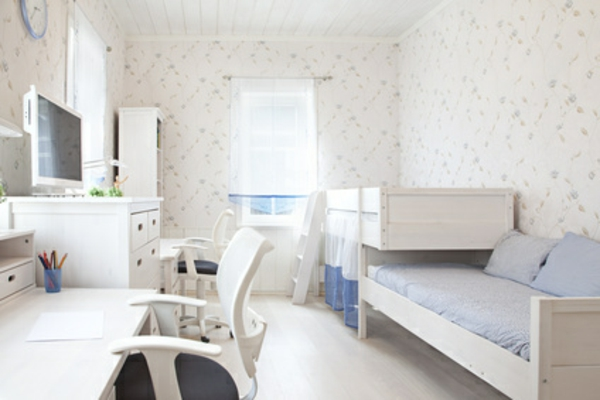 Einrichtungsideen fürs Jugendzimmer weiß farben raum nutzen