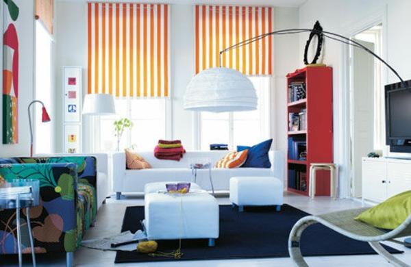 Farbideen für Wohnzimmer bodenlampe