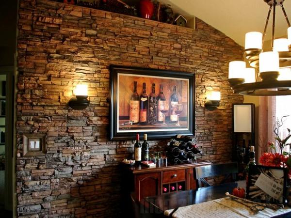 G nstige wandverkleidung mit kunststein - Wohnzimmergestaltung 3d ...