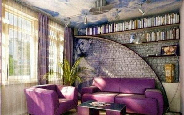 Günstige Wandverkleidung Kunststein wandpaneele steinoptik lila polsterung