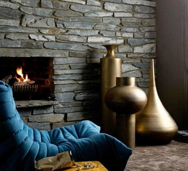 Wandverkleidung mit Kunststein wandpaneele steinoptik modern
