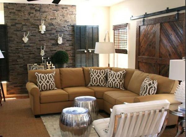 Günstige Wandverkleidung mit Kunststein wandpaneele steinoptik sofa wohnzimmer