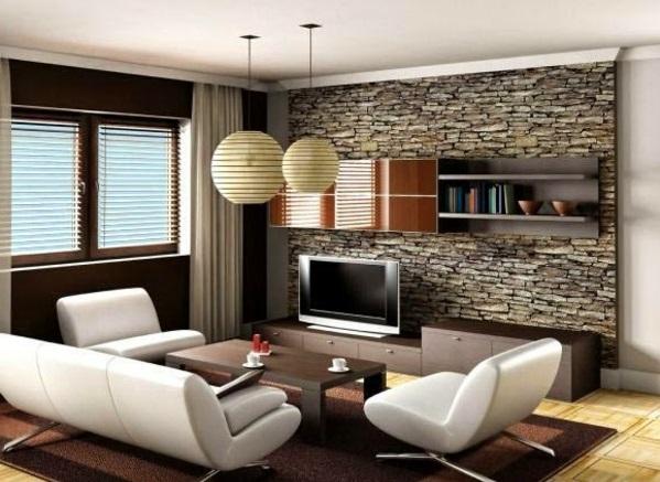 Wohnzimmer wandgestaltung steinoptik  Günstige Wandverkleidung mit Kunststein
