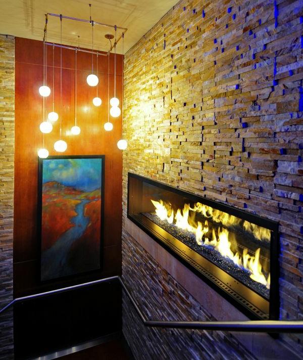 Wandverkleidung mit Kunststein wandpaneele steinoptik treppe