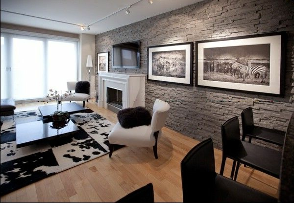 g nstige wandverkleidung mit kunststein. Black Bedroom Furniture Sets. Home Design Ideas