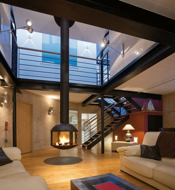 luxus wohnzimmer mit kamin – Dumss.com