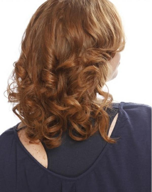 Haarfarbe im Frühlingstyp kupfer haarfarbe mahagoni