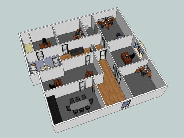 Kostenlose büromöbel schreibtische Zimmerplaner online apps