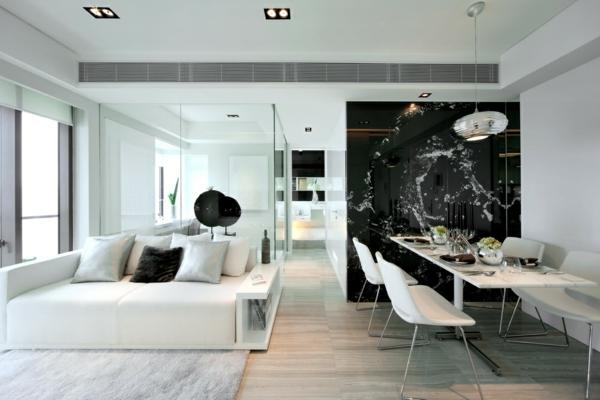Kostenlose Zimmerplaner schwarz abstrakt