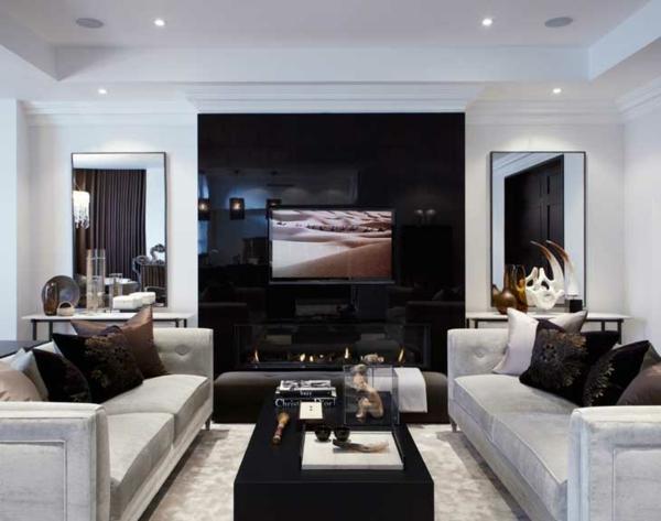 Kostenlose Zimmerplaner wandgestaltung hochglanz schwarz