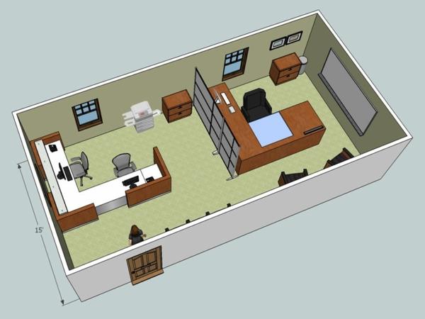 Kostenlose home office Zimmerplaner wohnlich