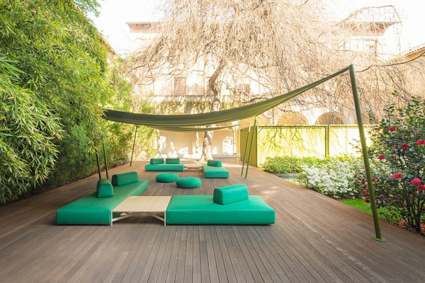 Lounge Gartenmöbel Set Rattan Polyrattan Exotisch