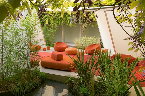 Merveilleux Lounge Gartenmöbel Rattan Polyrattan Rot Stoff