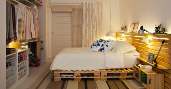 Möbel aus Paletten gartenmöbel europaletten bett schlafzimmer
