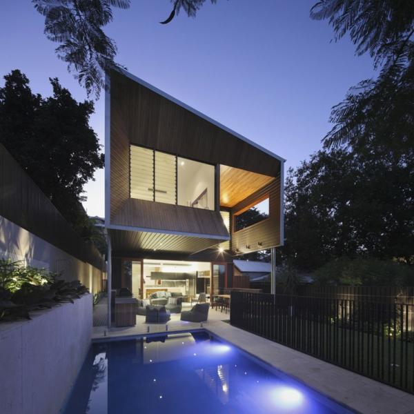 Modernes Architektenhaus umwandlung haus dämmerung