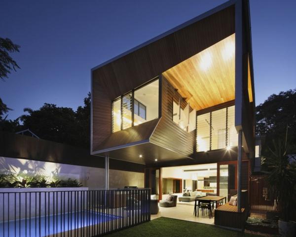 Modernes Architektenhaus umwandlung haus hütte vor krieg fassade