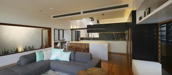 Modernes Architekten umwandlung haus hütte vor krieg sofa