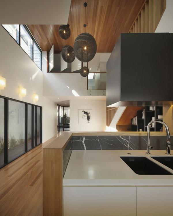 Modernes Architektenhaus umwandlung haus hütte vor krieg spüle