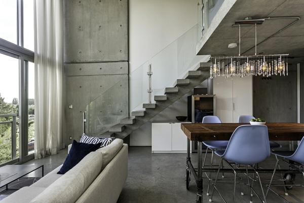 Modernes penthaus in vancouver ans ssig - Beton architektur ...