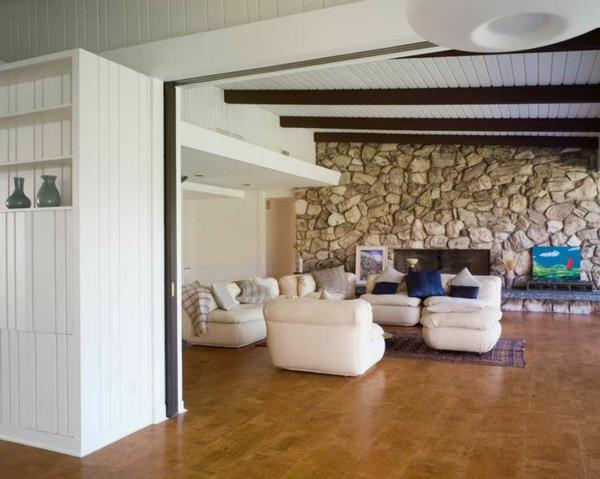 Wandgestaltung Stein Wohnzimmer : Wandgestaltung wohnzimmer streifen