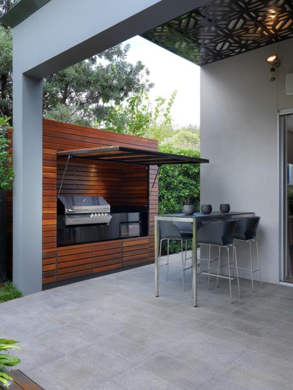 Outdoor Küchenmöbel gartengestaltung beton