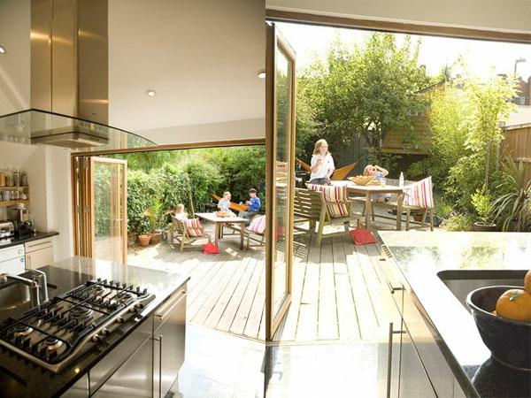 Outdoor Küchen möbel gartengestaltung sommer glas
