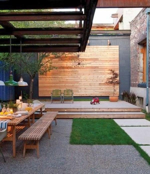Outdoor Küchenmöbel gartengestaltung sommer wand