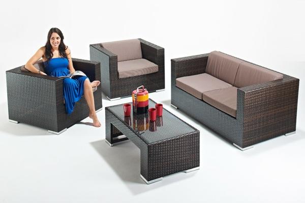 Garten Rattanmöbel polyrattan garten ideen mobiliar