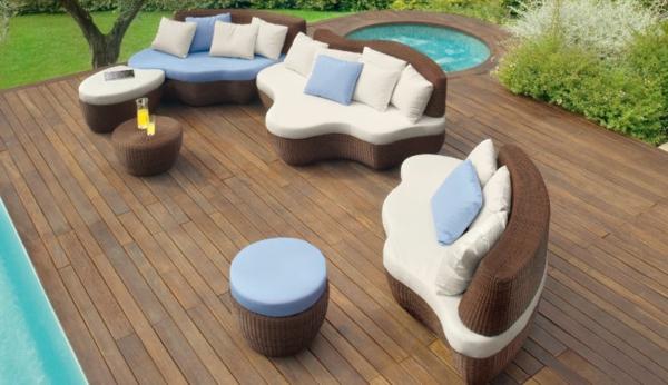 45 Outdoor Rattanmöbel U2013 Modernes Gartenmöbel Set Und Lounge Sessel ...