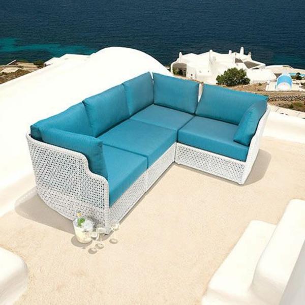 Outdoor Rattanmöbel polyrattan garten ideen sofa auflagen
