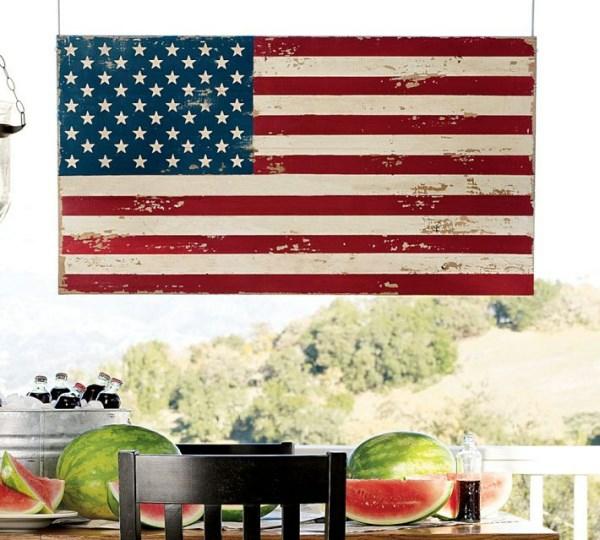 Party Deko in Nationalfarben amerikanisch stil