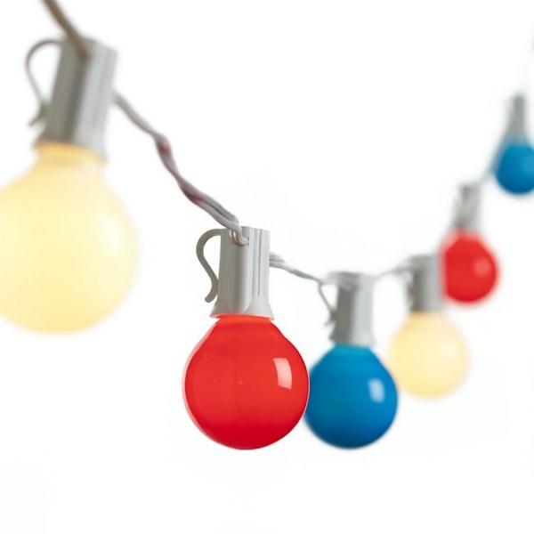 Party Deko in Nationalfarben glühbirnen bunt