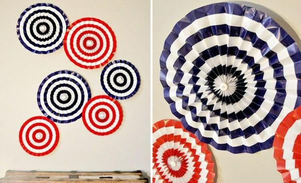 Party Deko in Nationalfarben rund papier deko