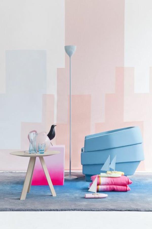 wandfarben farbpalette pastell farbgestaltung rosa - Wohnzimmer Streichen Pastell