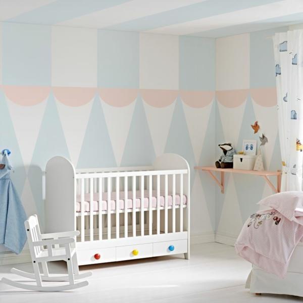 Wandfarben Farbpalette Kinderzimmer :  Pastell  wanddeko baby pastell wandfarben farbpalette farbgestaltung