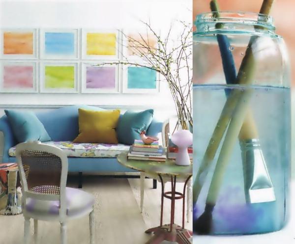 Pastell Wandfarben farbpalette farbgestaltung wanddeko farbenfroh