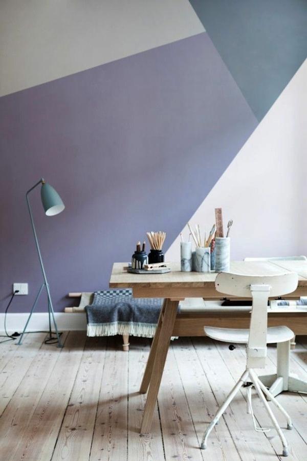 50 pastell wandfarben schicke moderne farbgestaltung - Wandmuster streichen ...