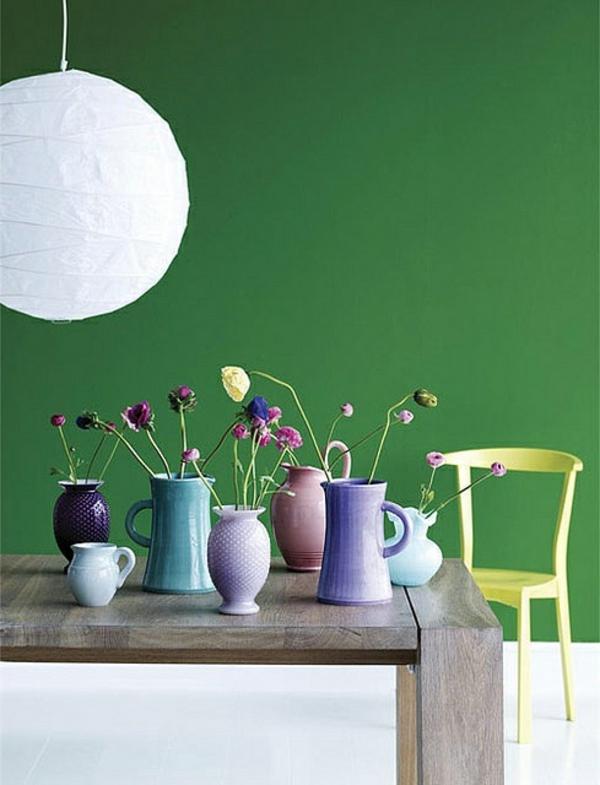 Pastell weiß kronleuchter Wandfarben farbpalette farbgestaltung wanddeko