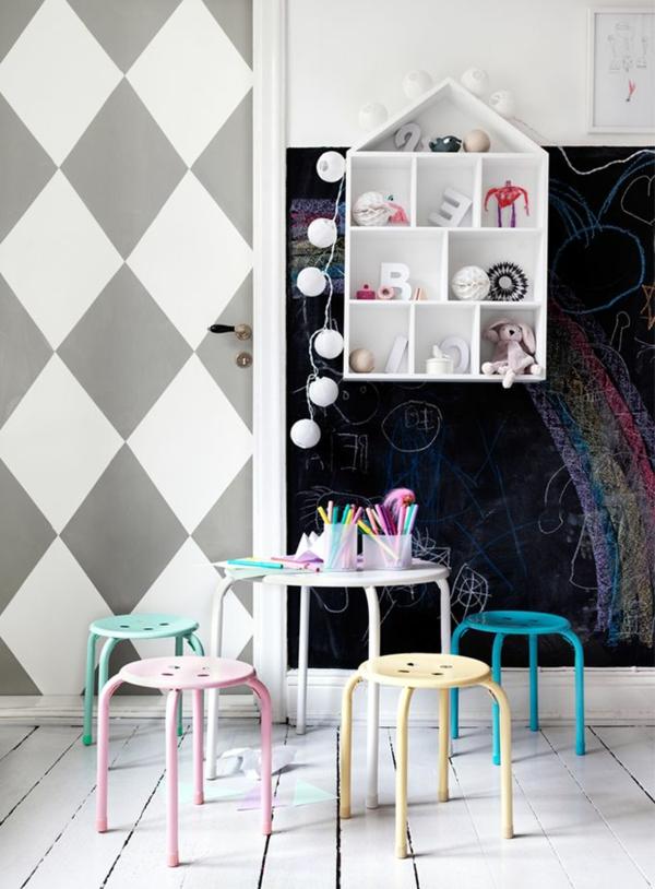 Wandfarben farbpalette farbgestaltung wanddeko rauten