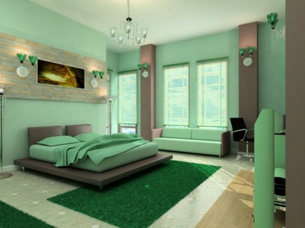 Wandfarben Farbpalette Farbgestaltung Wanddeko Schlafzimmer