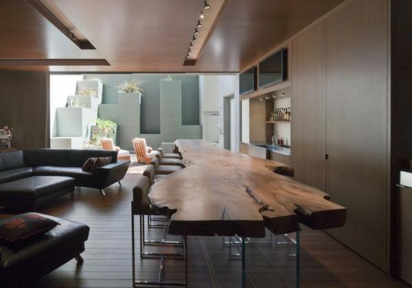 Esstisch Baumstamm Glas ~ Tisch aus Baumstamm  coole Möbelstücke von der Natur inspiriert