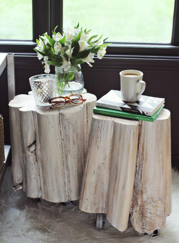 tisch aus baumstamm coole m belst cke von der natur. Black Bedroom Furniture Sets. Home Design Ideas