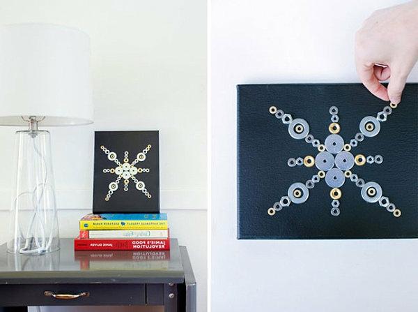Wanddeko selber machen bastelideen geometrisch